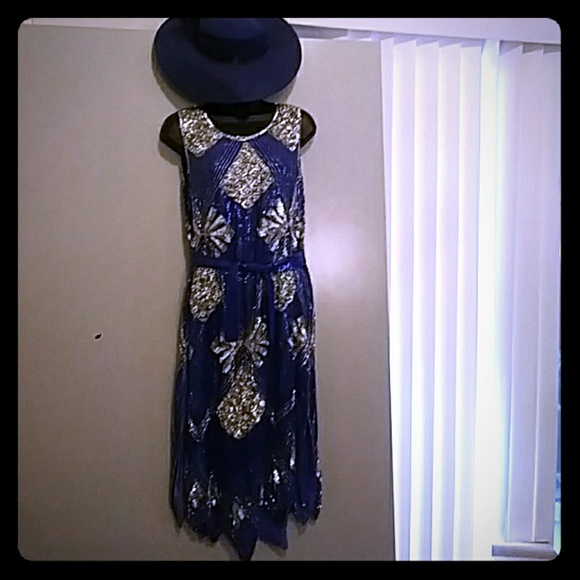 02b5ed95 Saks Fifth Avenue Dresses | Vintage Chanson Damour Saks Sequin ...